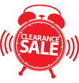 Clearance sale alarm clock red label vector image vector image