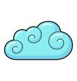 cloud icon light blue sky environment vector image