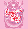 color poster template for summer party vector image vector image