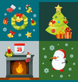 conceptual pictures of christmas celebration vector image