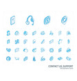 contact us and communication isometric line icons vector image
