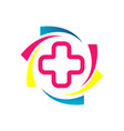 creative colorful medical pharmacy health care vector image vector image
