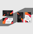 creative dark business card template set vector image vector image