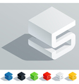 Cube styled monospace characters vector image vector image