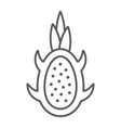 dragon fruit thin line icon fruits and tropical vector image vector image