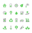 ecology icons set green energy vector image vector image
