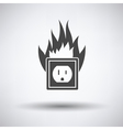 Electric outlet fire icon vector image