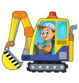 excavator operator theme image 1 vector image vector image