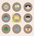 Fairy tale characters of the world vector image