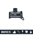 Fax machine icon flat vector image vector image