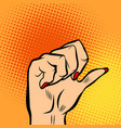 female fist and thumb vector image vector image