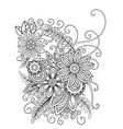 floral coloring page vector image