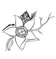 Flower Branch Design vector image vector image