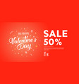 flyer with text happy valentines day vector image vector image