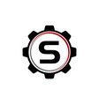 gear solution logo letter s vector image vector image