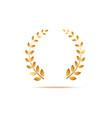 golden laurel venox leaves award and insignia of vector image