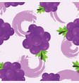grape seamless pattern vector image