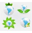 Green eco planet concept vector image vector image