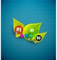 Green leaves and glass background vector image vector image