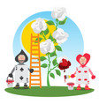 guardsmen playing cards painted flowers two of vector image