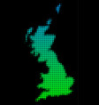 halftone great britain map vector image vector image
