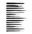 hand painted ink brush strokes vector image