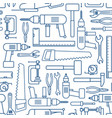 hardware tool set linear seamless pattern vector image vector image