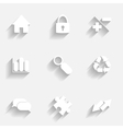 Icons set gray vector image vector image