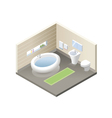 isometric bathroom set of modern bath furniture vector image vector image