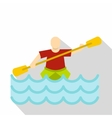 Kayaking water sport icon flat style vector image vector image