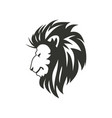 lion symbol or sign isolated on white background vector image vector image