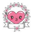love heart cartoon vector image