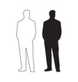 male silhouette vector image vector image