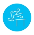 Man running over barrier line icon vector image vector image