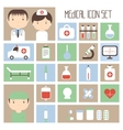 Medical and health colorful icons set Design vector image vector image