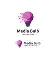 modern digital bulb logo designs concept vector image vector image