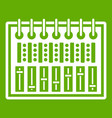 music equalizer console icon green vector image vector image