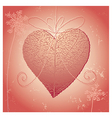 natural heart vector image vector image