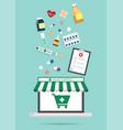 online pharmacy concept vector image