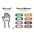 patch for motivation vector image vector image
