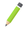 pencil flat icon education and school vector image