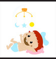 playing baby vector image