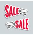 Sale megaphone sticker design vector image