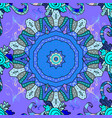 seamless floral pattern in flowers on blue vector image