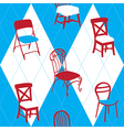 Seamless Pattern With Chairs vector image vector image