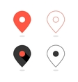 set simple pin icons with shadow vector image vector image