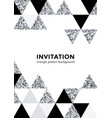 silver triangle pattern background for invitation vector image