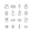 simple line icons ingredients for home baking vector image