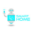 smarat home system vector image vector image