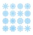 snowflake symbols christmas snow icons set vector image vector image